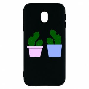 Phone case for Samsung J3 2017 Two large cacti