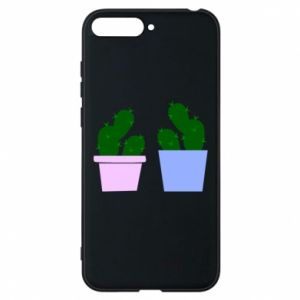 Phone case for Huawei Y6 2018 Two large cacti