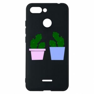 Phone case for Xiaomi Redmi 6 Two large cacti