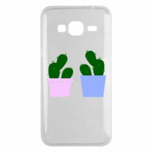 Phone case for Samsung J3 2016 Two large cacti