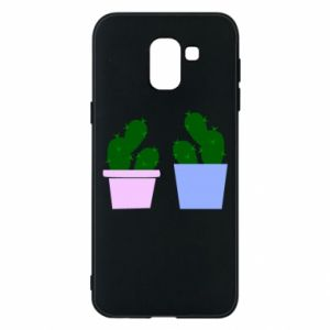 Phone case for Samsung J6 Two large cacti
