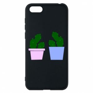 Phone case for Huawei Y5 2018 Two large cacti