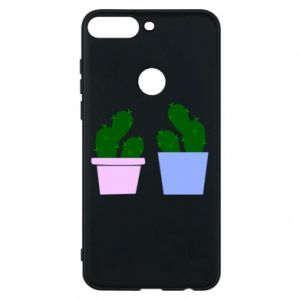 Phone case for Huawei Y7 Prime 2018 Two large cacti