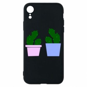 Phone case for iPhone XR Two large cacti