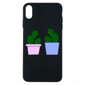 Phone case for iPhone Xs Max Two large cacti