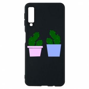 Phone case for Samsung A7 2018 Two large cacti