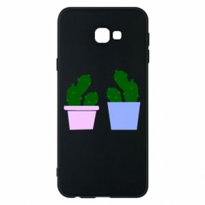 Phone case for Samsung J4 Plus 2018 Two large cacti