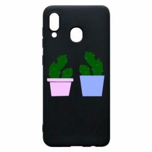 Phone case for Samsung A20 Two large cacti