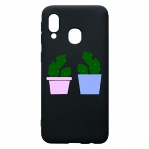 Phone case for Samsung A40 Two large cacti