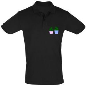 Men's Polo shirt Two large cacti