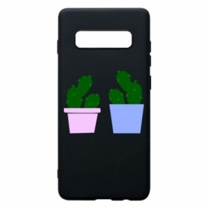 Phone case for Samsung S10+ Two large cacti
