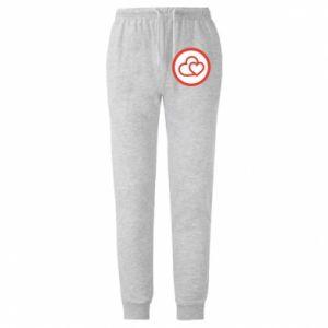 Męskie spodnie lekkie Dwa serca - PrintSalon