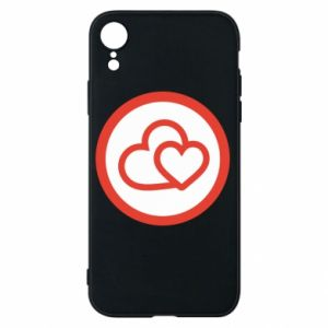 iPhone XR Case Two hearts