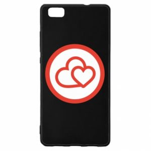 Huawei P8 Lite Case Two hearts