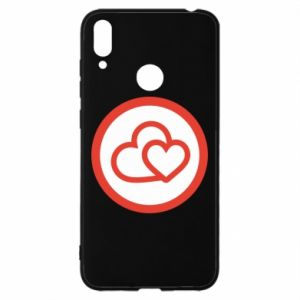 Huawei Y7 2019 Case Two hearts