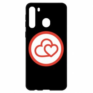 Samsung A21 Case Two hearts