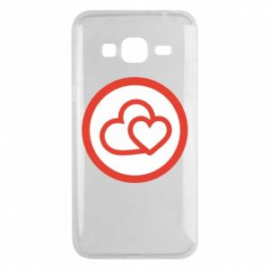 Samsung J3 2016 Case Two hearts