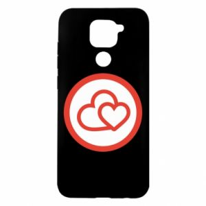 Xiaomi Redmi Note 9 / Redmi 10X case % print% Two hearts
