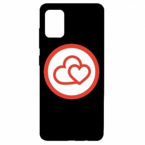 Samsung A51 Case Two hearts