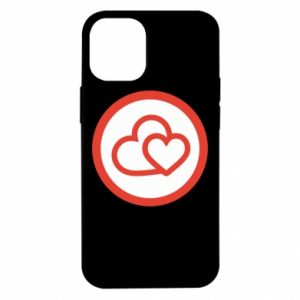 Etui na iPhone 12 Mini Dwa serca