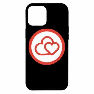 Etui na iPhone 12 Pro Max Dwa serca