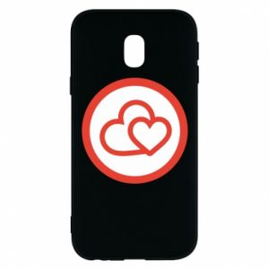 Samsung J3 2017 Case Two hearts