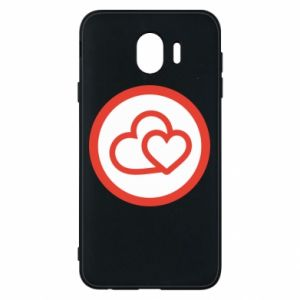 Samsung J4 Case Two hearts