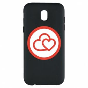 Phone case for Samsung J5 2017 Two hearts