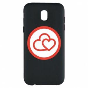 Etui na Samsung J5 2017 Dwa serca