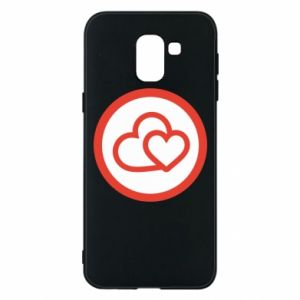 Samsung J6 Case Two hearts