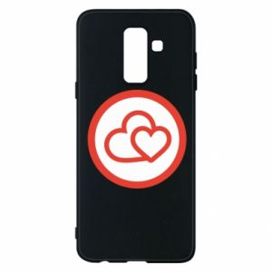 Phone case for Samsung A6+ 2018 Two hearts