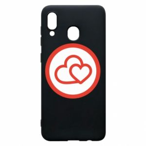 Samsung A20 Case Two hearts