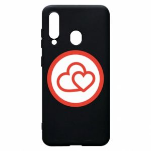 Phone case for Samsung A60 Two hearts