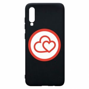 Phone case for Samsung A70 Two hearts