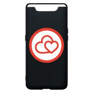 Samsung A80 Case Two hearts