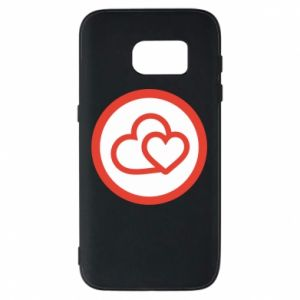 Samsung S7 Case Two hearts