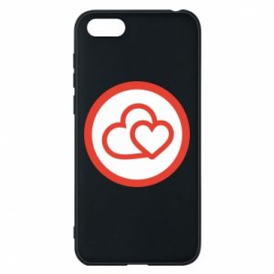 Huawei Y5 2018 Case Two hearts