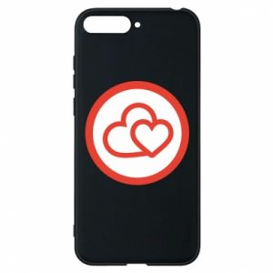 Huawei Y6 2018 Case Two hearts