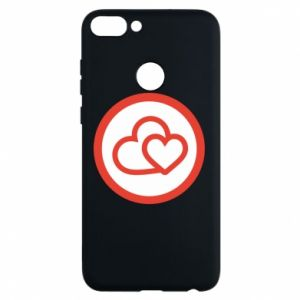 Phone case for Huawei P Smart Two hearts