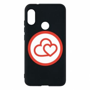 Mi A2 Lite Case Two hearts