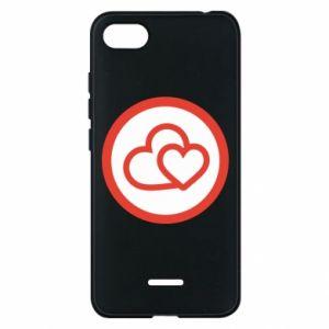 Etui na Xiaomi Redmi 6A Dwa serca