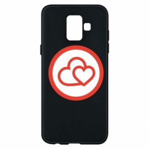 Samsung A6 2018 Case Two hearts