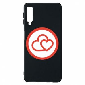 Samsung A7 2018 Case Two hearts