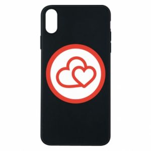 iPhone Xs Max Case Two hearts