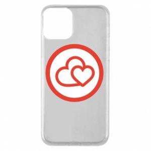 Etui na iPhone 11 Dwa serca - PrintSalon