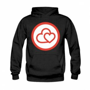 Kid's hoodie Two hearts