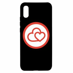 Xiaomi Redmi 9a Case Two hearts