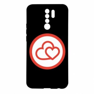 Xiaomi Redmi 9 Case Two hearts
