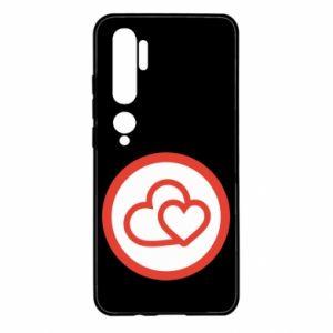 Etui na Xiaomi Mi Note 10 Dwa serca