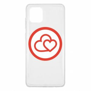 Samsung Note 10 Lite Case Two hearts